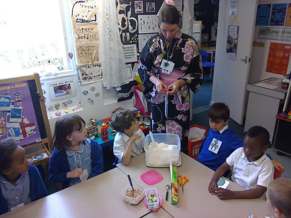 Teacher in Chinese Dress