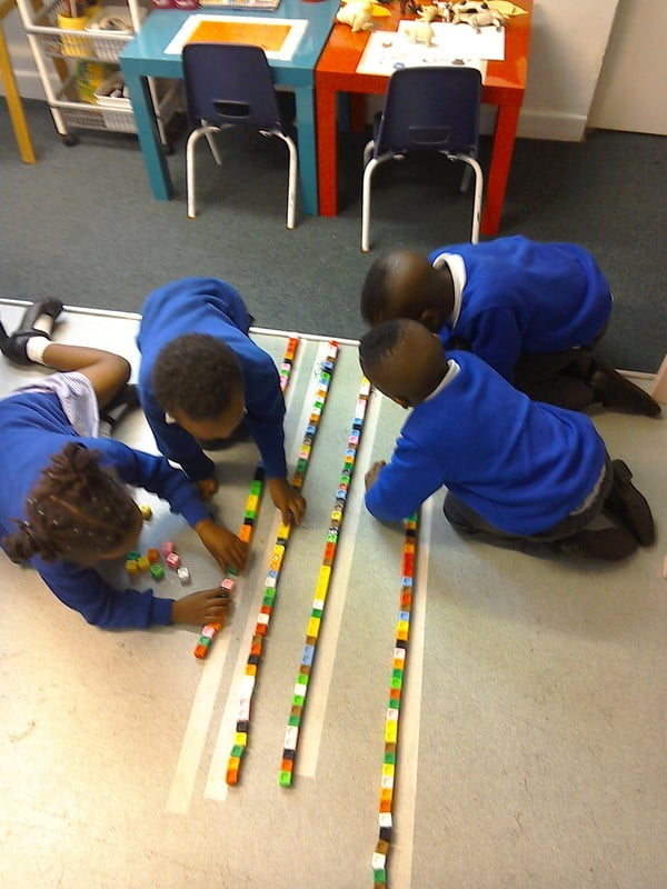 Young Children Playing with blocks